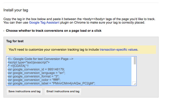 How to Setup Google Adwords Conversion Tracking for Shopify