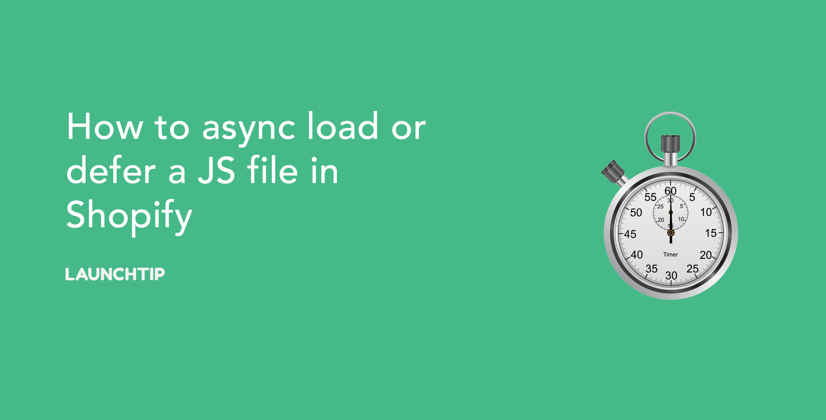 How to async load or defer a JS file in Shopify