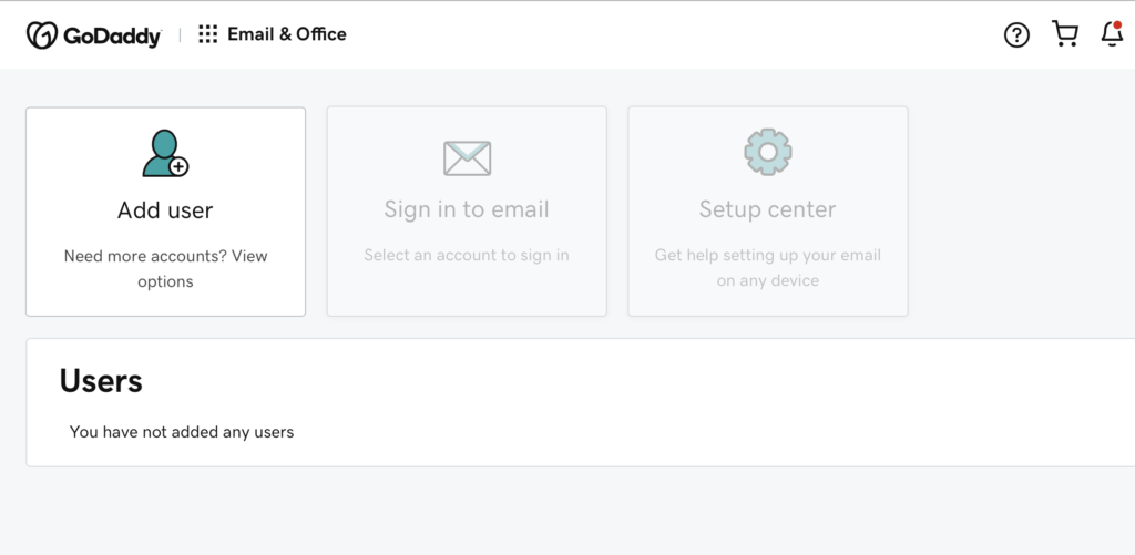 adding email for your Shopify store
