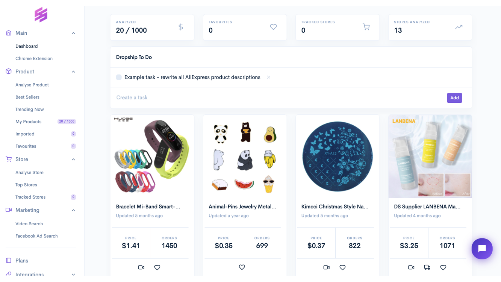 product research tool