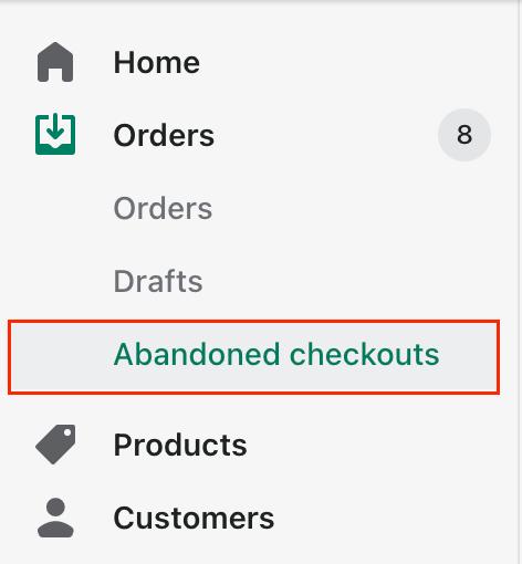 abandoned checkout