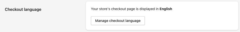 checkout language