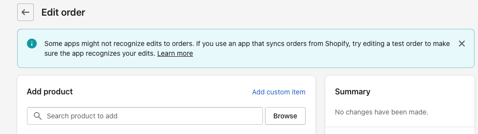 change a customer's order