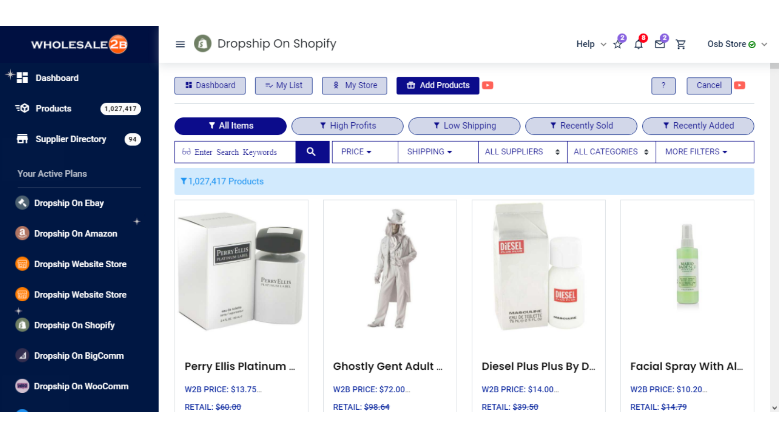 multiple drop shipping apps